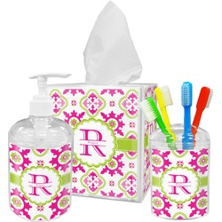 Suzani Floral Bathroom Accessories Set (Personalized)