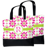 Suzani Floral Beach Tote Bag (Personalized)