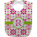 Suzani Floral Baby Bib (Personalized)