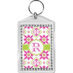 Suzani Floral Bling Keychain (Personalized)
