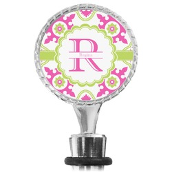 Suzani Floral Wine Bottle Stopper (Personalized)