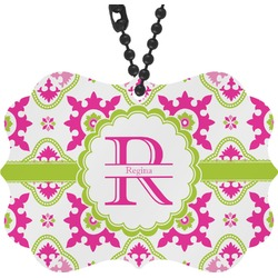 Suzani Floral Rear View Mirror Charm (Personalized)