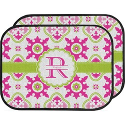 Suzani Floral Car Floor Mats (Back Seat) (Personalized)