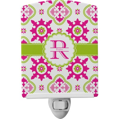 Suzani Floral Ceramic Night Light (Personalized)
