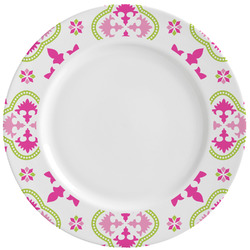 Suzani Floral Ceramic Dinner Plates (Set of 4) (Personalized)
