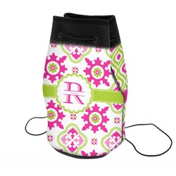 Suzani Floral Neoprene Drawstring Backpack (Personalized)