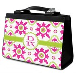 Suzani Floral Classic Tote Purse w/ Leather Trim (Personalized)