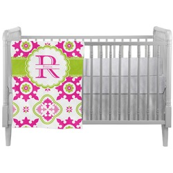 Suzani Floral Crib Comforter / Quilt (Personalized)
