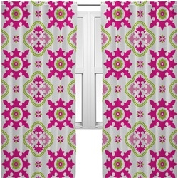 Suzani Floral Curtains (2 Panels Per Set) (Personalized)