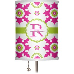 "Suzani Floral 7"" Drum Lamp Shade (Personalized)"