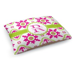 Suzani Floral Dog Pillow Bed (Personalized)