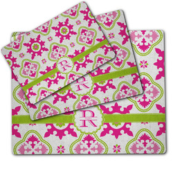 Suzani Floral Dog Food Mat w/ Name and Initial
