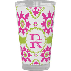 Suzani Floral Drinking / Pint Glass (Personalized)