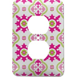 Suzani Floral Electric Outlet Plate (Personalized)