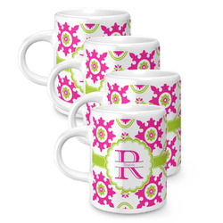 Suzani Floral Espresso Mugs - Set of 4 (Personalized)