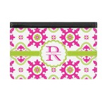Suzani Floral Genuine Leather ID & Card Wallet - Slim Style (Personalized)