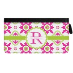 Suzani Floral Genuine Leather Ladies Zippered Wallet (Personalized)