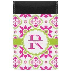 Suzani Floral Genuine Leather Small Memo Pad (Personalized)
