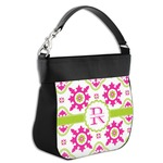 Suzani Floral Hobo Purse w/ Genuine Leather Trim (Personalized)