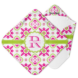 Suzani Floral Hooded Baby Towel (Personalized)