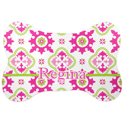Suzani Floral Bone Shaped Dog Food Mat (Personalized)