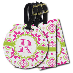 Suzani Floral Plastic Luggage Tags (Personalized)