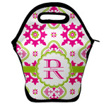 Suzani Floral Lunch Bag w/ Name and Initial