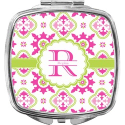 Suzani Floral Compact Makeup Mirror (Personalized)