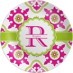 """Suzani Floral Melamine Plate - 8"""" (Personalized)"""