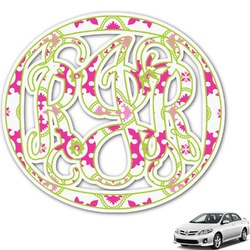 Suzani Floral Monogram Car Decal (Personalized)
