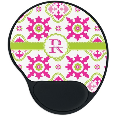 Suzani Floral Mouse Pad with Wrist Support