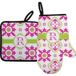 Suzani Floral Oven Mitt & Pot Holder (Personalized)