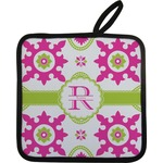 Suzani Floral Pot Holder w/ Name and Initial