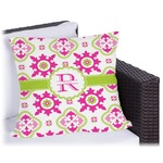 Suzani Floral Outdoor Pillow (Personalized)