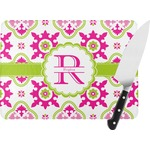 Suzani Floral Rectangular Glass Cutting Board (Personalized)