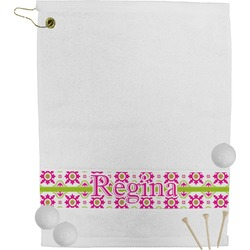 Suzani Floral Golf Towel (Personalized)