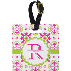 Suzani Floral Square Luggage Tag (Personalized)