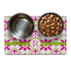 Suzani Floral Pet Bowl Mat (Personalized)
