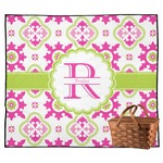 Suzani Floral Outdoor Picnic Blanket (Personalized)