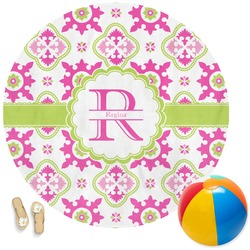 Suzani Floral Round Beach Towel (Personalized)