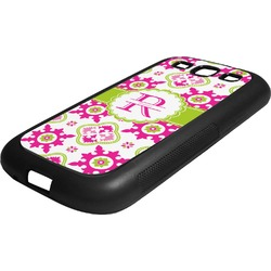 Suzani Floral Rubber Samsung Galaxy 3 Phone Case (Personalized)
