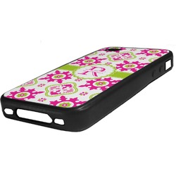Suzani Floral Rubber iPhone Case 4/4S (Personalized)