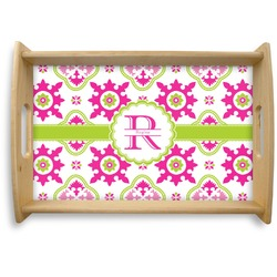 Suzani Floral Natural Wooden Tray (Personalized)