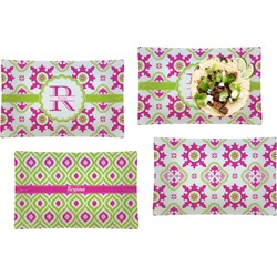 Suzani Floral Set of 4 Rectangular Dinner Plates (Personalized)