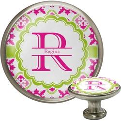Suzani Floral Cabinet Knob (Silver) (Personalized)