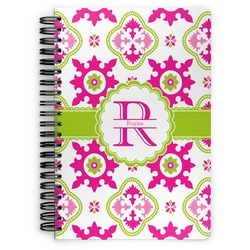 Suzani Floral Spiral Bound Notebook - 7x10 (Personalized)