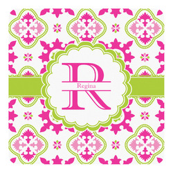 Suzani Floral Square Decal - Custom Size (Personalized)