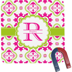 Suzani Floral Square Fridge Magnet (Personalized)