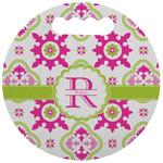 Suzani Floral Stadium Cushion (Round) (Personalized)