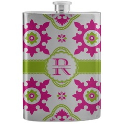 Suzani Floral Stainless Steel Flask (Personalized)